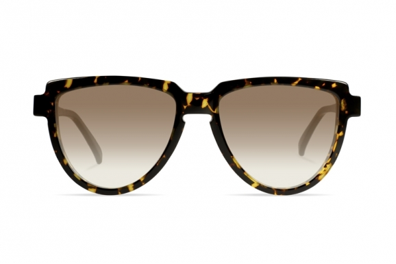 Urican 58BS, Tortoiseshell Acetate Aviator Sunglasses