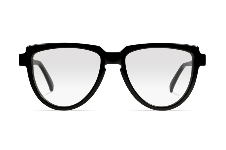 Urican 58BK, Black Acetate Aviator Optical Frame