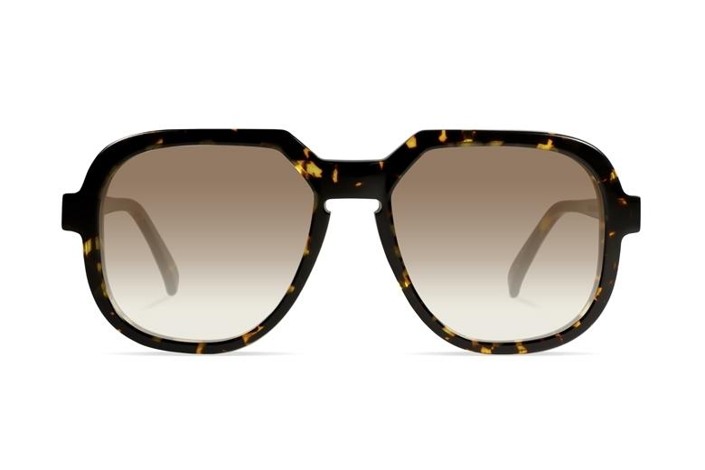 Urican 78BS, Tortoiseshell Acetate Oversized Sunglasses