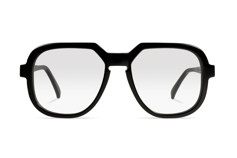 Urican 78BK, Black Acetate Oversized Optical Frame