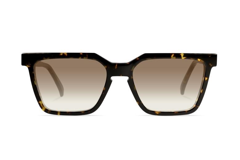 Urican 85BS, Tortoiseshell Acetate Rectangular Sunglasses