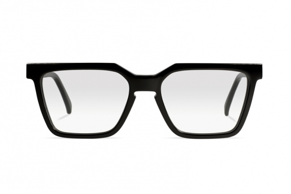 Urican 85BK, Black Acetate Rectangular Optical Frame