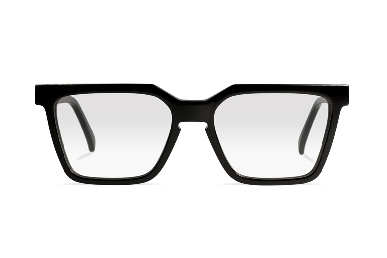 Urican 85BK, Black Acetate Rectangular Optical Frame