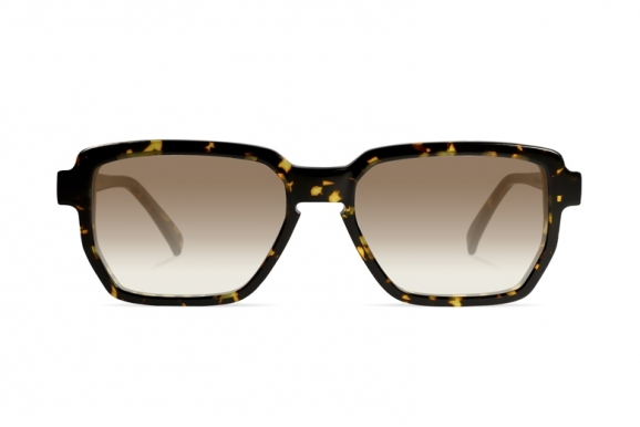 Urican 88BS, Tortoiseshell Acetate Hexagonal Sunglasses