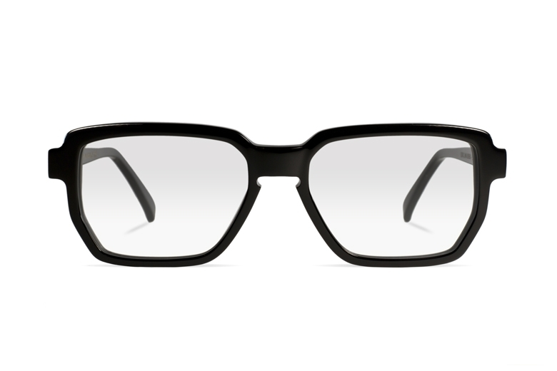 Urican 88BK, Black Acetate Hexagonal Optical Frame