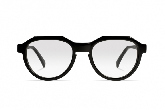Urican 90BK, Black Acetate Pantoscopic Optical Frame