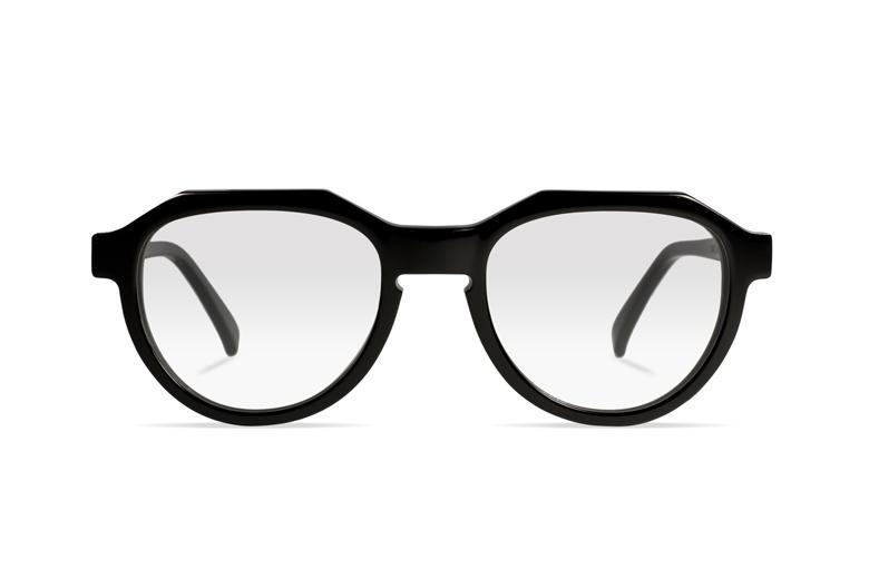 Urican 90BK, Black Acetate Pantoscopic Optical Frame