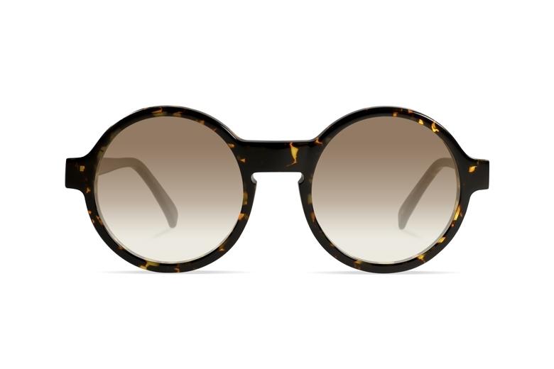 Urican 92BS, Tortoiseshell Acetate Round Sunglasses