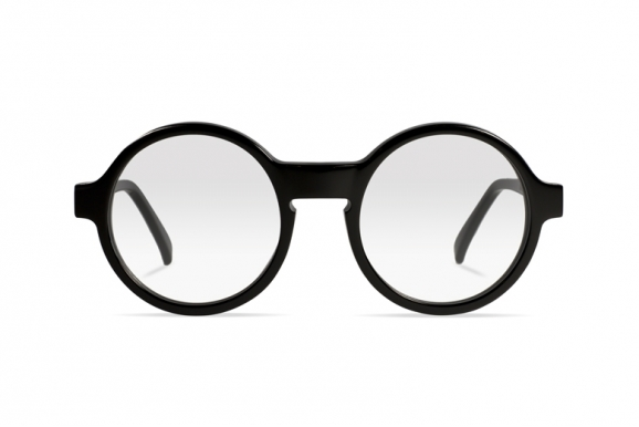 Urican 92BK, Black Acetate Round Optical Frame