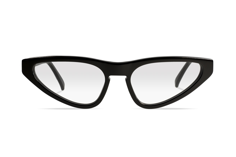 Urican 94BK, Black Acetate Butterfly Optical Frame