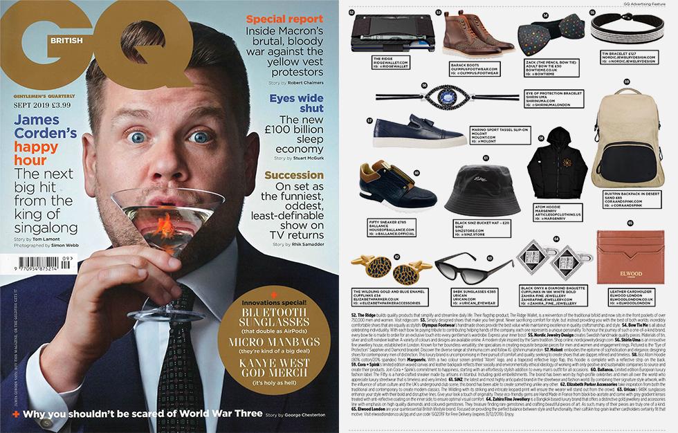 Urican 94BK, lunettes fabriquées en France dans GQ Magazine